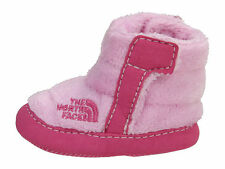 The North Face NSE Infant Baby Girl Fleece Booties Pink 6-9 Months old Sz 4 New