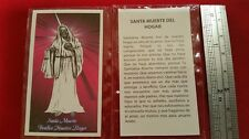 Santa Muerte Holy Death Del Hogar Holy Prayer Card Novena  Spanish Estampas