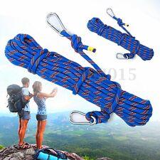 15M Corde d'Escalade Bleu Climbing Rope Survival Sécurité Ceinture Dia.10mm