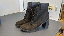 Timberland womens High Heel Boots - Black Suede - UK 8 EU 41.5 Good condition