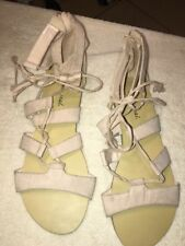 8186e384aa47 Woman s Wet Seal Strappy Beige -strap Gladiator Sandals US Size 10W New