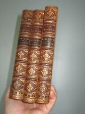 Prescott's Conquest of Mexico 3 Vols antique Leather Wykenhurst Park book plate