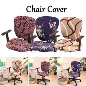 Home Office Swivel Chair Covers Stretch Armchair Seat Cover Slipcover Protector