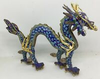 Cloisonne Dragon Figurine Enamel Painted Chinese 珐琅龙雕像 [AH805]