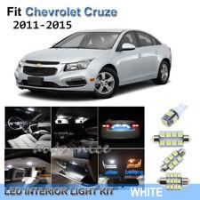 For 2011-2015 Chevrolet Cruze Xenon White LED Interior Lights Kit 8 Pieces