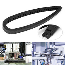 1M Nylon Cable Chain 1000mm 40'' Black Long Drag Wire Carrier R28 15mm x 30mm