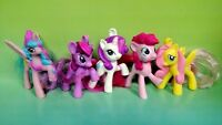 "5 G4 My Little Pony MLP Brushable 2"" Inch Rare Horse Bundle Mini Ponies Unicorn"