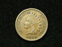 SUMMER SALE!  XF 1895  INDIAN HEAD CENT PENNY w/ DIAMONDS & FULL LIBERTY #40s