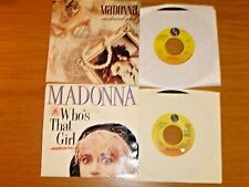 LOT of 4 MADONNA 45 RPMs w/PICTURE SLEEVE - SIRE LABEL