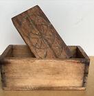 Antique Vintage Wooden Butter  Press Mold Pennsylvanian Dutch Design