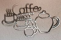 Coffee Squiggles Metal Art Decoration 9 Skilwerx 15 x 9 Caffeine