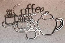 Coffee Squiggles Aluminum Metal Art Skilwerx 15 x 9 caffeine 9