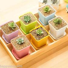 7pcs/Set Mini Plastic Plant Flower Pot Planter For Home Office Nursery Garden