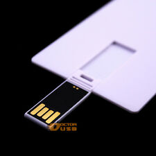 100PCS 512MB Memory Flash Credit Card USB Drives No Data Lose Blank White