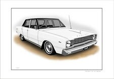 VALIANT  VE   VIP  V8   SEDAN      LIMITED EDITION CAR DRAWING  PRINT