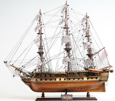 "USS Constitution Old Ironsides Wooden Tall Ship Model 29"" Handbuilt T097"