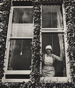 1939 Vintage BILL BRANDT Maid At Window London Original Photo Gravure Art 12X16