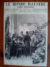 SAINT PETERSBOURG BUREAU DU COMITE SLAVE RUSSIA   gravure 1876 antique print