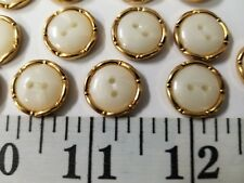 New listing Vintage Buttons Set Of 14 White Gold Metal Tuz131 Last!