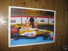 Renault F1 2009 launch Grand Prix POSTER F1