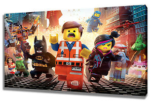 Wall Art Canvas Picture Print of Lego Movie Framed Ready to Hang