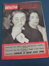 Détective 1960 719 TOURCOING PONTFAVERGER BAILLEVAL GRAND SACONNEX MARMANDE CATC