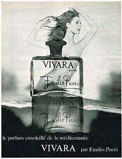 PUBLICITE ADVERSTISING  1969   EMILIO PUCCI    parfum VIVARA