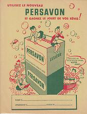 Objet de collection protège cahier lessive Persavon décoré au dos