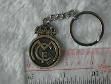 kiTki spain Real Madrid metal badge football soccer keychain key chain ring