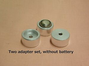 Two BATTERY ADAPTER HM-N NR52 for LR44 Yashica electro 35GX Himatic F Fujica