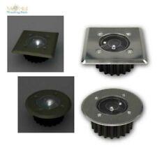 LED Solar Floor-Lamp Edelstahl-Einbau-Strahler IP44 With Dusk Sensor
