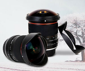8mm F/3.0 Ultra Wide Fisheye Lens for Canon EOS 1200D 760D 750D 700D 70D 60D APS