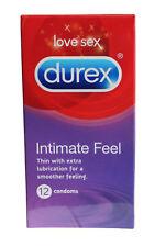 Paquete De Durex Preservativos Íntimos Tienen Un Tacto 12 Con Lubricante Extra F