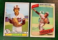 Denny Martinez Topps 1979 #211 and 1980 #10 - Orioles