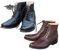 Herren Stiefelette Country Western-Boots Braun Schwarz Cowboy-Stiefel HENDERSON