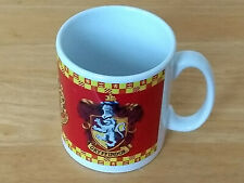 Harry Potter white glazed ceramic mug with Gryffindor coat of arms design