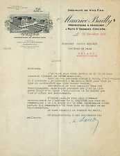 21 NUITS-SAINT-GEORGES COURRIER VINS FINS MAURICE BAILLY PROPRIETAIRE 1925