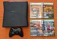 Microsoft Xbox 360 S 120 GB Black Console w/ Games & Controller