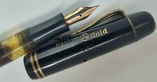 Rare and Authentic MERKUR GOLD ref 273 Fountain Pen, 14kt Nib, celluloid body