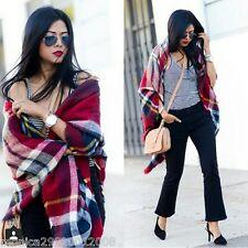 Zara Rouge à carreaux bleu châle écharpe blogueurs ! ref 4219 211
