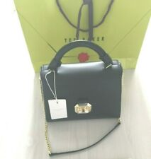 TED BAKER Ladies Pearl Black Leather Shoulder Hand Bag RRP £215 : New Defective