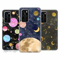 HEAD CASE DESIGNS MARBLE GALAXY HARD BACK CASE & WALLPAPER FOR HUAWEI PHONES 1