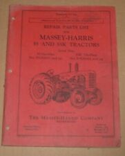 Original Old Massey Harris Tractor Parts Manual 55 Amp 55k Tractor
