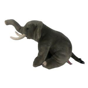 FAO Schwartz Gray Elephant Plush with Tusks Toys R US Ht 13.5 2013 Geoffrey LLC
