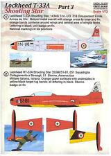 Print Scale Decals 1/72 LOCKHEED T-33A SHOOTING STAR Part 3