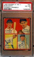 1935 Goudey 4 in 1 Baseball Card #3C Pirates Lloyd & Paul Waner Hoyt PSA 4 VGEX