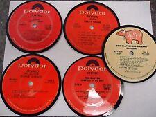 Eric Clapton/Cream (Polydor & RSO labels)  - Record Album Coaster Set
