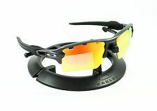OAKLEY FLAK 2.0 XL STEEL *SILVER ICONS* FRAME / REVANT FIRE RED POLARIZED CUSTOM