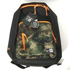 NEW Era Branded Cram Backpack Woodland Camo Camouflage 3 Pocket Cap Clip