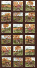 """MODA Quilt Panel ~ COUNTRY ROAD ~ Holly Taylor (6660 21) Earth 24"""" x 45"""""""